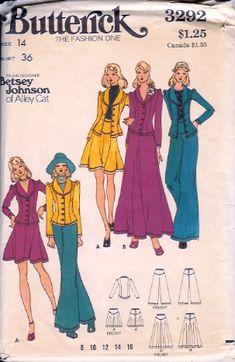 787a771d1 Betsey Johnson Alley Cat, Butterick 3292 Dress Making Patterns, Vintage  Dress Patterns, Clothing