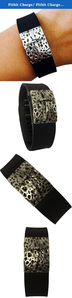 Activity Bracelets Fitness - Fitbit Charge/ Fitbit Charge HR Jewelry to Accessorize Your Fitness Tracker Bracelet - Aged Hammered Black Silver Cross ANKARA Bracelet Accessory. Fitbit Alta, Fitbit Flex, Jawbone Up Jewelry to Accessorize Your Fitness Tracker - Aged Hammered Black Silver Cross ANKARA Bracelet Accessory. Harmonize weekend style  wearable tech! This Aged Hammered Black Silver Cross ANKARA Bracelet Accessory for the Fitbit Charge, and Charge HR activity trackers is a boho, c...