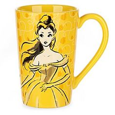 Disney Belle Fashion Sketch Mug | Disney StoreBelle Fashion Sketch Mug - Beauty is in the eye of the beholder as you drink from this elegant latte mug featuring a vintage-style fashion sketch of Belle that will add a veneer of glamour to your mornings.