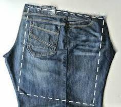 Сумочка из старых джинсов - на