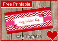 Free Printable – Valentine's Bag Topper