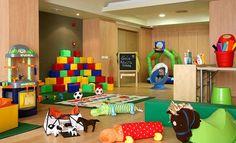 ZONA INFANTIL: Y cómo no, también disponemos de zona infantil para que los niños puedan jugar con nuestras monitoras mientras los padres descansan un poquito.