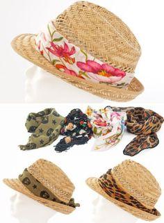 Ideias para Personalizar Chapéu de Palha. Sombreros De  PajaPajasGorrasBufandasBolsosVestidosRopaPersonalizarSombrero Playero 45a91a8cc43