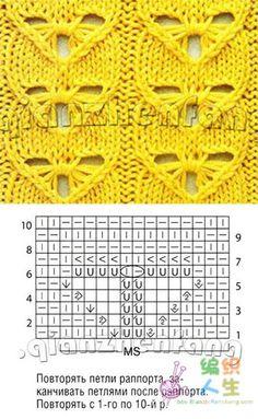 特殊花型的织法 - julia668 - julia668的博客 Knitting Charts, Lace Knitting, Knitting Stitches, Knit Crochet, Knitting Patterns, Crochet Patterns, Stitch Patterns, Shawl, Tube