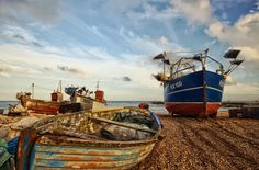 https://flic.kr/p/csutjs | RX150 | HDR scene of some of the beach based Hastings fishing fleet.