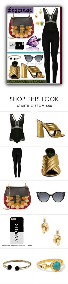 """Wardrobe staples: Leggins!"" by mypointofstyle ❤ liked on Polyvore featuring Giuliana Romanno, Gucci, Wolford, Chloé, Fendi, Balenciaga, David Yurman, Scosha, Diesel and Leggings"