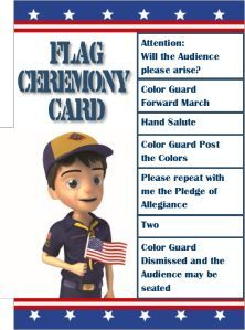Flag Ceremony Card | MY SCOUTING SPIRIT!! | Cub scout flag