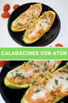 Cómo preparar calabacines rellenos de atún de forma fácil y rápida usando el microondas. Idea de receta saludable para la cena en 15 minutos.