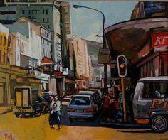 Hot Afternoon Long Street - Oil - Artist: Andrew Owen