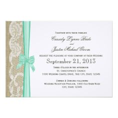 Romantic Lace and Bow Wedding Personalized Invite http://www.zazzle.com/romantic_lace_and_bow_wedding_personalized_invite-161525293485761092?rf=238282136580680600