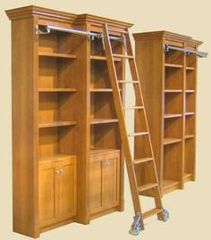 i dont care for the color but i will have shelving with a sliding ladder