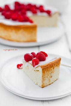 Baked Cheesecake with Raspberries | Moje Wypieki