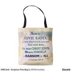 ONE God - Scripture Tote Bag