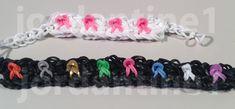New Breast Cancer Awareness Ribbon Bracelet - Advanced - Rainbow Loom, Crazy Loom, Bandaloom Rainbow Loom Tutorials, Rainbow Loom Patterns, Rainbow Loom Creations, Rainbow Loom Bands, Rainbow Loom Bracelets, Loom Love, Fun Loom, Loom Bands Instructions, Awareness Ribbons