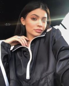 kylie jenner in dp track suit //