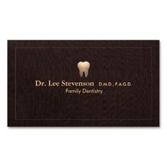 Elegant Dentist Tooth Logo Office Appointment Standard Business Card