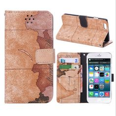 Map buckle with card holder,so popular case.
