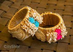 Bangles Silk Thread Bangles Design, Silk Thread Necklace, Silk Bangles, Bridal Bangles, Thread Jewellery, Beaded Jewelry, Handmade Jewelry, Bangles Making, Diy Jewelry Inspiration
