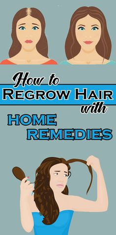 Many women suffer from hair loss and often feel embarrassed and less self-conscious about their appearance. Medical treatments actually can help regrow your hair, but there are also great benefits of home remedies for stopping hair loss and re-growing hai Stop Hair Loss, Prevent Hair Loss, Healthy Beauty, Healthy Hair, Healthy Women, Excessive Hair Loss, Natural Hair Loss Treatment, New Hair Growth, Hair Loss Women