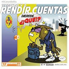 """""""Llegando y a rendir cuentas"""" #ElCartonDelDia #DisfrutenloConLeche #MonerosFutboleros"""