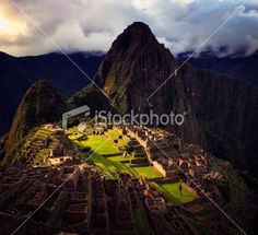 Machu Picchu at Last Light Royalty Free Stock Photo