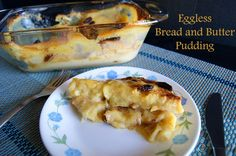 Eggless Bread Pudding is a wonderful combination of bread, butter, custard, cinnamon and raisin baked into a lovely pudding. Perfect for weekend breakfast.