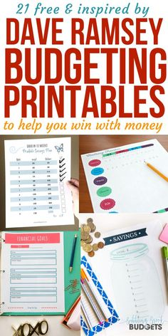 21 free budgeting printables for working the Dave Ramsey baby steps! Super helpful money saving charts and budget worksheets to win with money, get finances on track, and crush money goals. Awesome savings printable too! Budgeting Printables for Da Budget Spreadsheet, Budget Binder, Budget Chart, Family Budget Planner, Budget Tracking, Budgeting Finances, Budgeting Tips, Faire Son Budget, Savings Chart