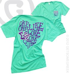 SIGMA SIGMA SIGMA ONE LIFE ONE LETTER ONE LOVE BID DAY SHIRT GROUP ORDER!!