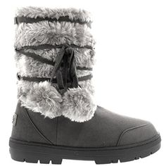 Damen Schuhe Pom Pom Fell Schnee Regen Stiefel Winter Fur Boots - Schwarz -  42 - EA0158 fa2b7900a8