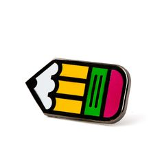 No. 2 is No. 1 - Black nickel pin with colored enamel - Rubber backing…