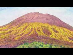 Vesuvius - flowering gorse (Ginestra), watercolor by Jana Haasová Watercolor Landscape, Pisa, Magick, Volcanoes, Painters, Statue, Plants, Trees, Youtube