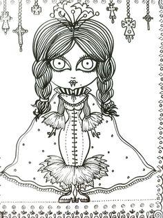 Vampire Vixens Coloring Book Page Goth Gothic Halloween Fantasy Fantasie фэнтези fantasia fantasi colouring adult detailed advanced printable Zentangle anti-stress, Färbung für Erwachsene, coloriage pour adultes, colorare per adulti, para colorear para adultos, раскраски для взрослых, omalovánky pro dospělé, colorir para adultos, färgsätta för vuxna, farve for voksne, väritys aikuiset Line Art Black and White https://www.etsy.com/shop/ChubbyMermaid