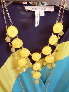 I bought this necklace!  Now what do I wear with it?