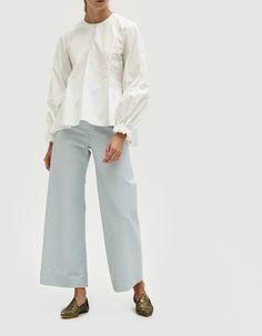 Creatures Of Comfort / Maison Pant in Sky Sailor Pants, Handbags Online, Winter Looks, Autumn Fashion, Creatures, Sky, Legs, Clothes For Women, Cotton