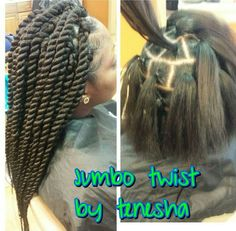 Jumbo twist rubberband method