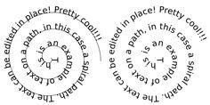 Texte sur un chemin spiralé.