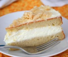 Lemon Cream Cake (Low Carb and Gluten Free) | All Day I Dream About Food