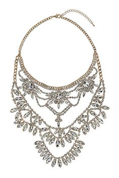 multirow rhinestone necklace #deartopshop
