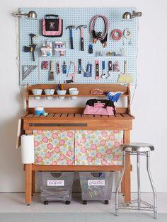 Organizando as ferramentas, a garagem, o depósito, oficina...