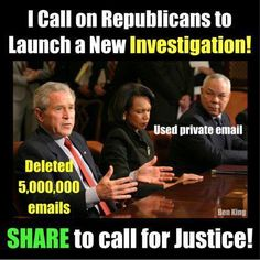 Jason Chaffetz has been caught giving out a Gmail address for official correspondence, which is also run through a private email server. One wonders if we'll see an eighteen month investigation into their email as well.   HYPOCRITES are running the Witch Hunt!  #HillaryForAmerica