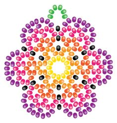 Yes, it's time for another Huichol beading project! This time we're going to learn how to create a simple Huichol-style flower earring or pendant. You'll need some Preciosa beads like the ones found in my other Huichol tutorial here, in several colors. The tutorial is done in shades of yell