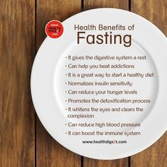 Health benefits of fasting.