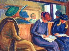Agnes Cleve - Reading on the Train
