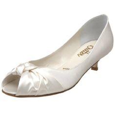 #Butter Women's Bloom Peep-Toe Kitten Heel