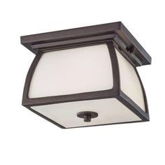 Feiss Wright House 1-Light Outdoor Oil Rubbed Bronze Flush Mount-OL8513ORB - The Home Depot