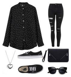 """Untitled #1"" by vickygor ❤ liked on Polyvore featuring Topshop, Vans, Pandora, women's clothing, women, female, woman, misses and juniors"