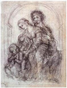Study for St. Anne - Leonardo da Vinci