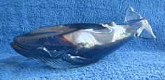 Sweden Kosta Paul Hoff glass whale figurine figure WWF animals ocean marine fish #Kosta #PaulHoff