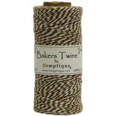 Bakers Twine - svart/hvit, 125 m