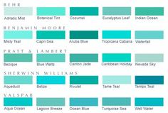 colour turquoise colour chart - Google Search